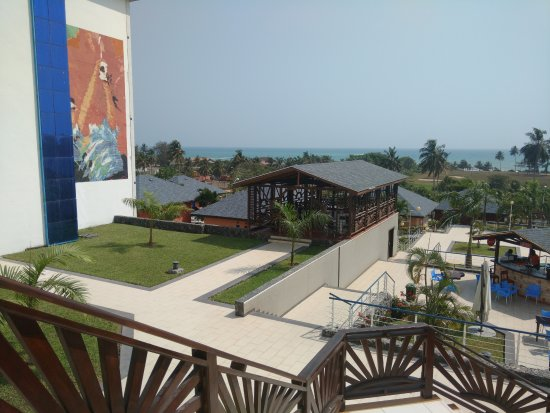 Sekondi-Takoradi, Ghana: A shot from the terrace with the ocean view in the distance.