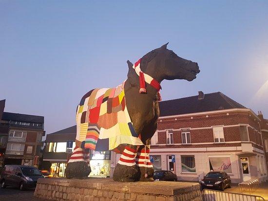 Prins, trots van Brabant: Horse all dressed up.