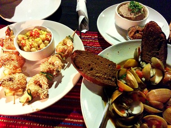Anjuna, India: Excellent antipasti, the chicken liver pate is superb