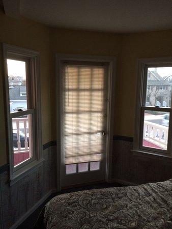 Bay Head, NJ: No windown treatments. Could see in next door room.