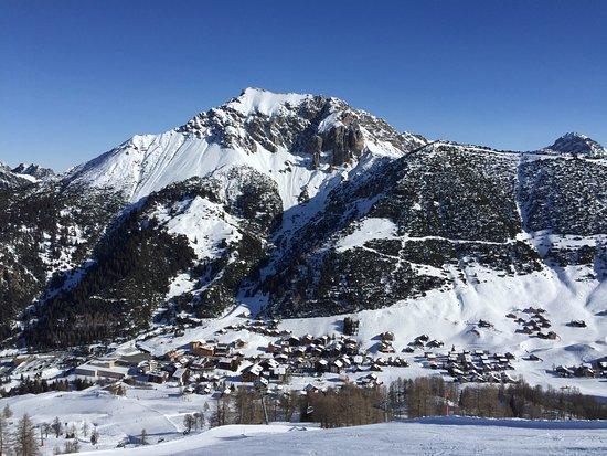Town of Malbun in the winter