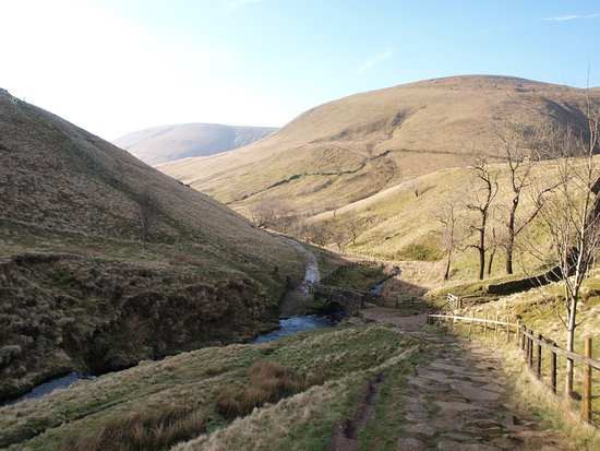 Edale, UK: Looking back down