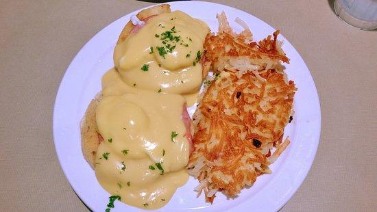 Eggs Benedict at Cornerstone Cafe, Monticello, MN