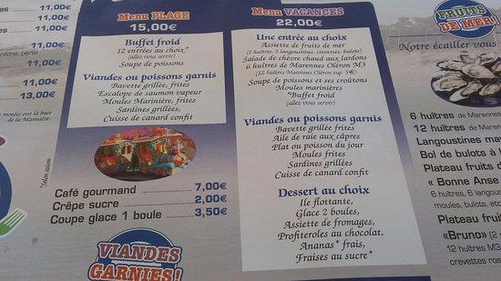Avis Restaurant Chez Bruno  Ef Bf Bd Saint Palais Sur Mer
