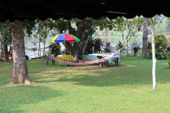 The Pamba Heritage Villa: Breakfast & lunch were served on the riverbank.