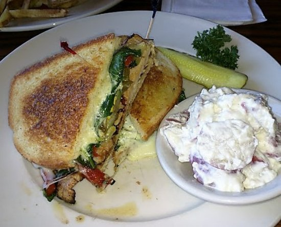Duke's Bar and Grill: Tuscan Turkey Sandwich and Potato Salad