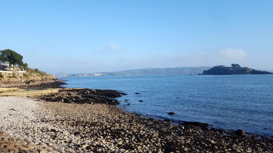 South West Coast Path National Trail: This is a view from the coastal path
