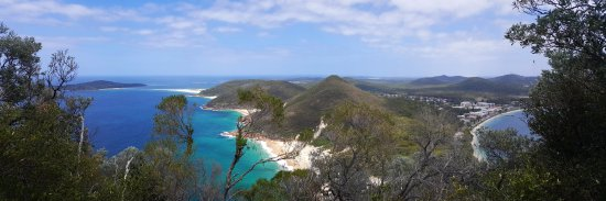 Shoal Bay, Austrália: Tomaree Head view