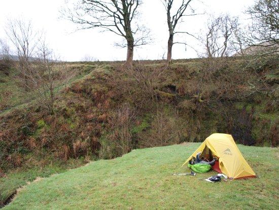 Edale, UK: Briljant campspot  eunning water just underneed