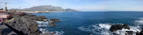 View of the Harbor at Giardini Naxos, the location of DiveSicily.
