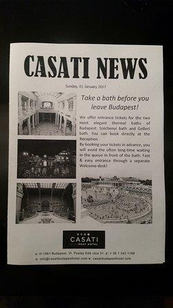 Casati Budapest Hotel: Daily Hotel News