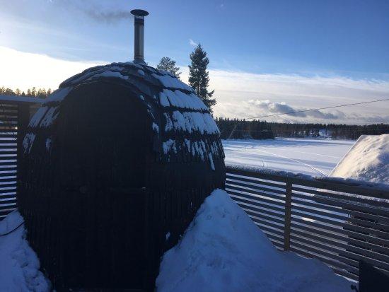 Hyrynsalmi, Suomi: Wood Shingle Sauna / Igloo Sauna