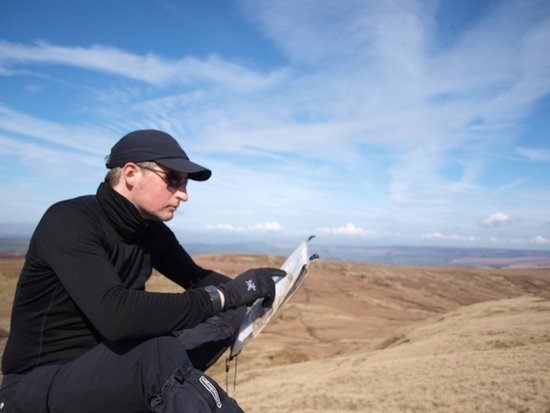 Peak District National Park, UK: Looking at the Map