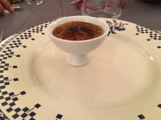 Truffiere des Merigots: Crème brûlée au foie gras truffée