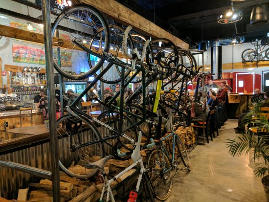 Indoor Bike Parking Picture Of Handlebar Cafe Baltimore