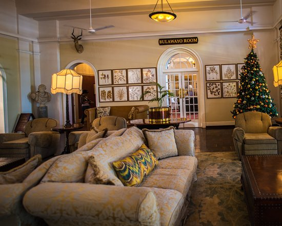 The Victoria Falls Hotel : One room off the loby
