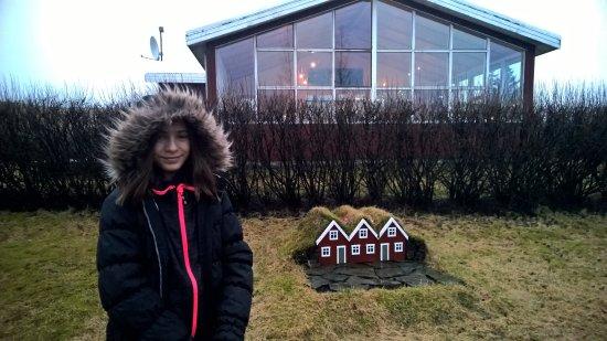 Kirkjubaejarklaustur, Iceland: Outside the main reception / bar area