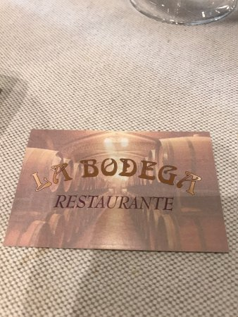La Bodega Restaurants: card