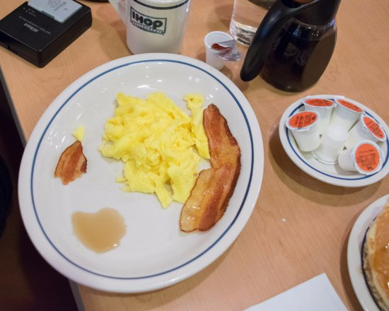 IHOP: Scrambled Eggs and Bacon for Dinner