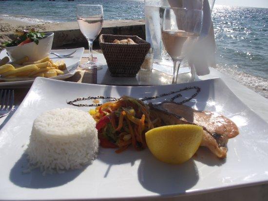 La haut plage : Filet de St-Pierre sauce chorizo