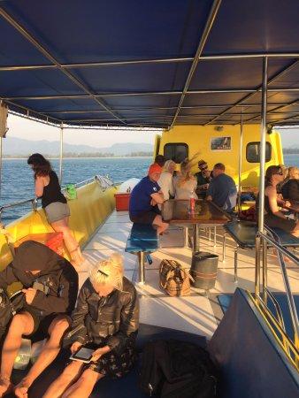 Sea Bees Diving Khao Lak - Day Tours: Sun deck on MV Stingray after diving on Koh Bon