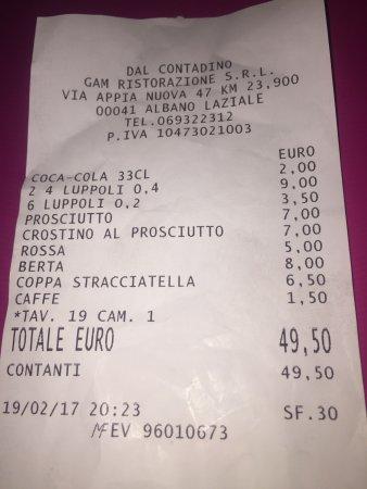 Genazzano, Italien: Prezzo da RISTORANTE a 2 Stelle Michelin una vergogna