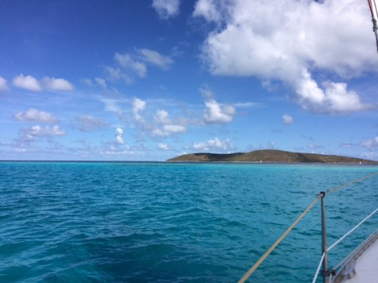 Christiansted, St. Croix: Sailing out toward Buck Island