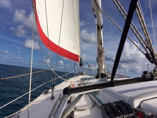 Christiansted, St. Croix: Under sail