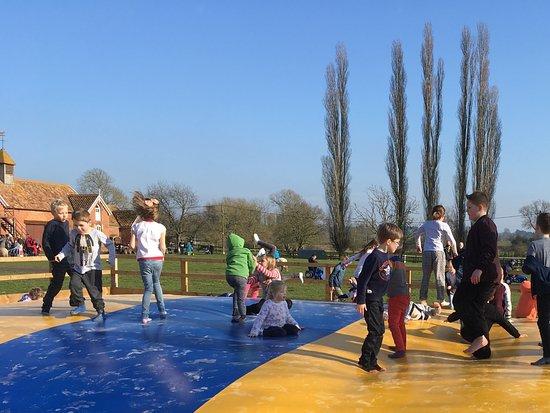 Woodbridge, UK: The new outdoor trampoline