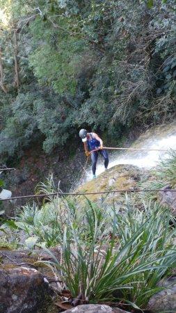 Belmopan, Belize: waterfall rappelling