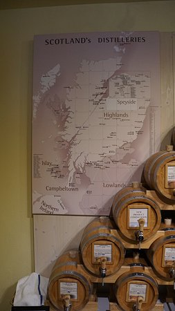 Vom Fass: Map showing Whisky Regions in Scotland