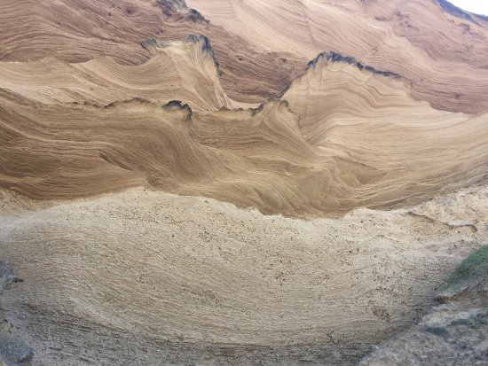 Sedgefield, Zuid-Afrika: The patterns high up on the sandstone cliffs