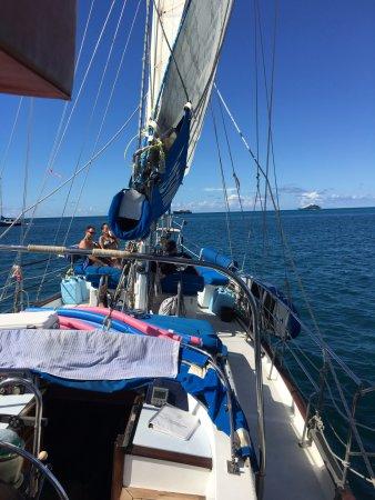 bahía de Simpson, St. Maarten: Bow of the Boat