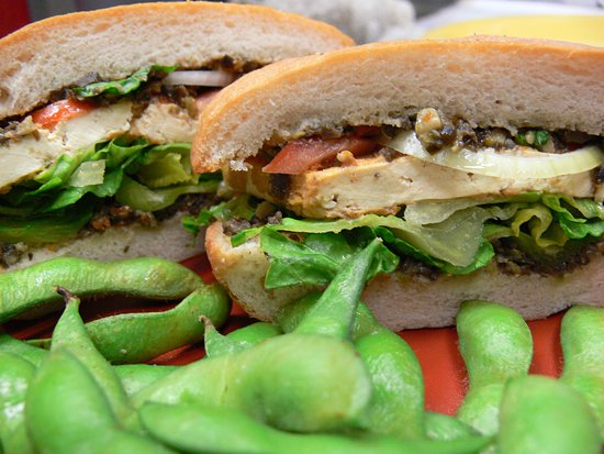 Haiku, HI: Tofu Muffalata Sandwich