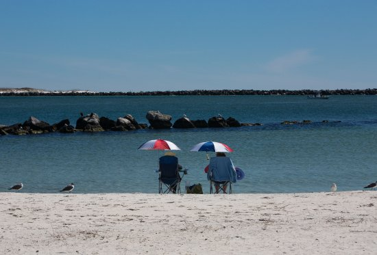 St. Andrews State Park: Relaxing on a warm winter day