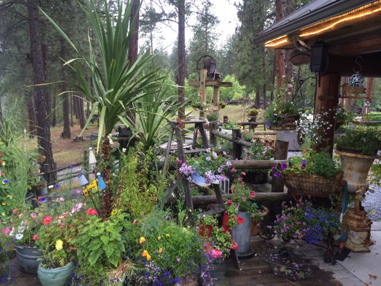 Northport, WA: Typical deck environment in the spring/summer