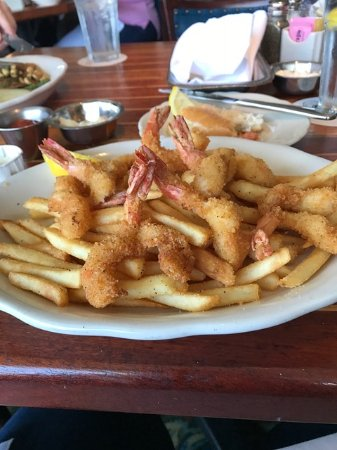 Webster, TX: My shrimp plate and I'd already eaten some of it.