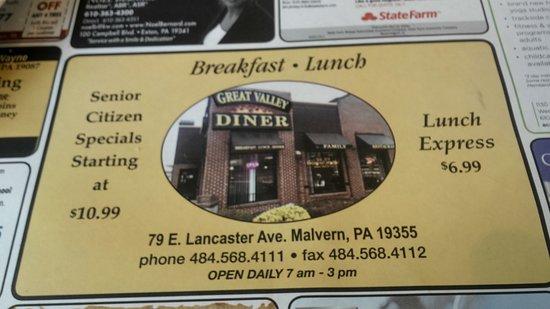 Малверн, Пенсильвания: GV Diner