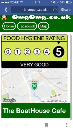 Barking, UK: 5* Food Hygiene Rating