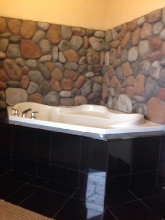Nisku, Canada: Stay-cation. The room jacuzzi was able to comfortably fit two larger people. Fire place, pool, m