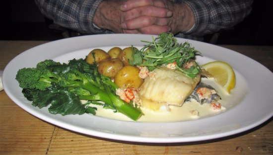 Hartpury, UK: Fish Main Course