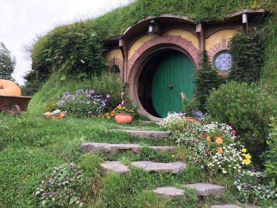Hobbiton Movie Set Tours: Bilbo Baggins house Hobbiton