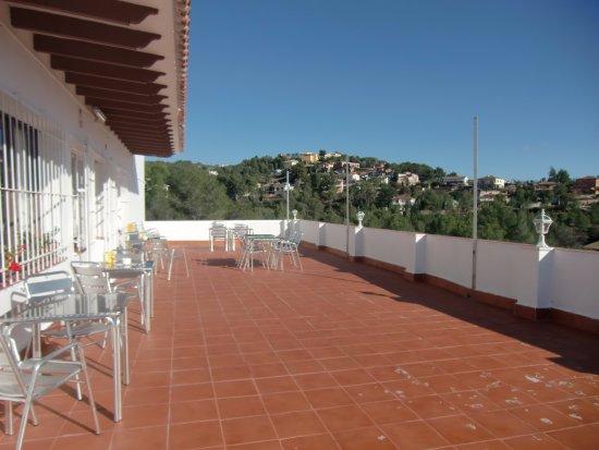 Olivella, Ισπανία: Terraza trasera