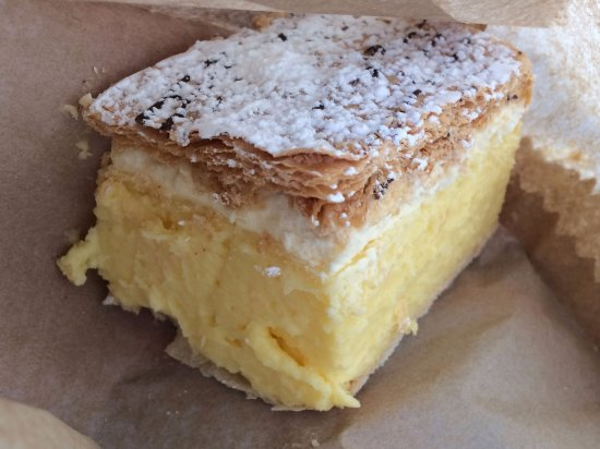The second French Vanilla Slice from Robe Bakery!
