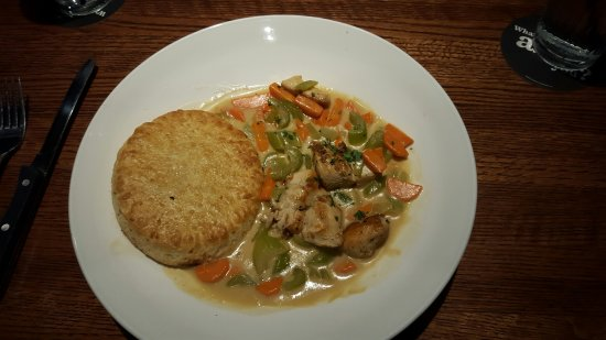 Leawood, KS: Chicken pot pie (tasteless)