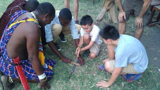 Lake Natron, Tanzania: Making fire the Maasai way!