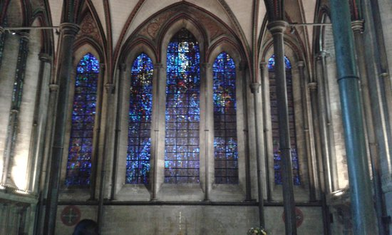 Salisbury, UK: One of the stained glass windows
