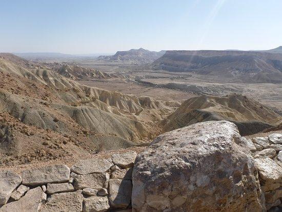 Sde Boker, Israel: Zin Valley seen from BenGurion Tomb National Park.