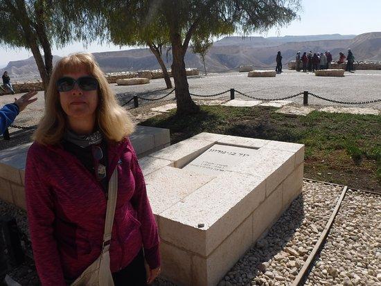 Sde Boker, Israel: Paula and David Ben Gurion graves