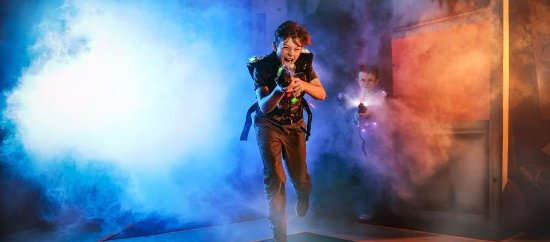 Rockhampton, Australië: Laserforce Lasertag, full 2 level playing arena for up to 40 players!